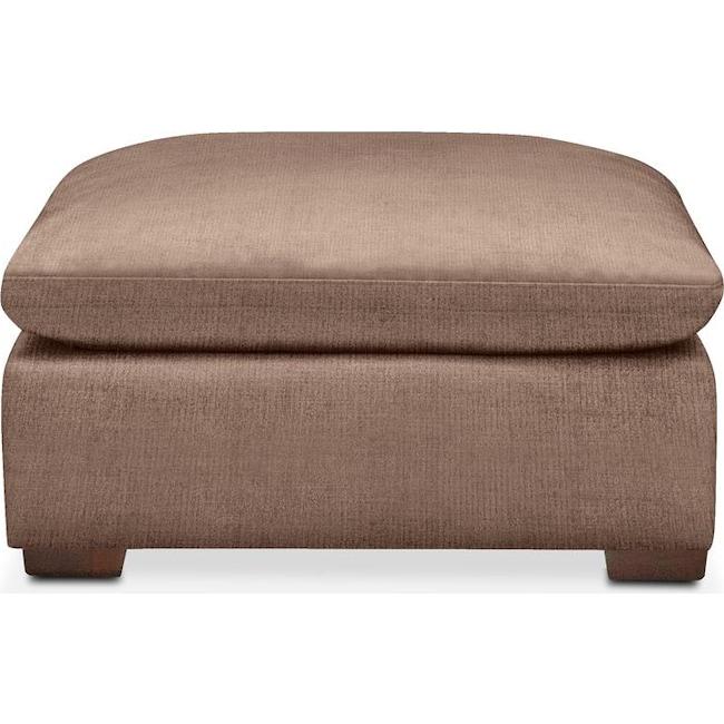Living Room Furniture - Plush Ottoman- in Abington TW Antler