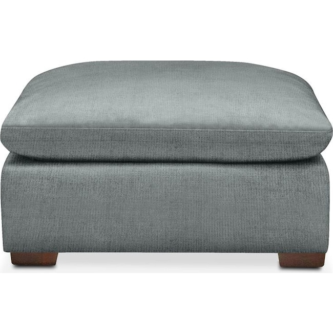 Living Room Furniture - Plush Ottoman- in Abington TW Seven Seas