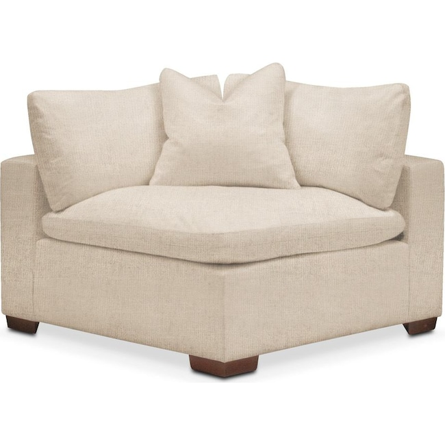 Living Room Furniture - Plush Corner Chair- in Victory Ivory