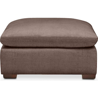 Plush Ottoman- in Oakley III Java