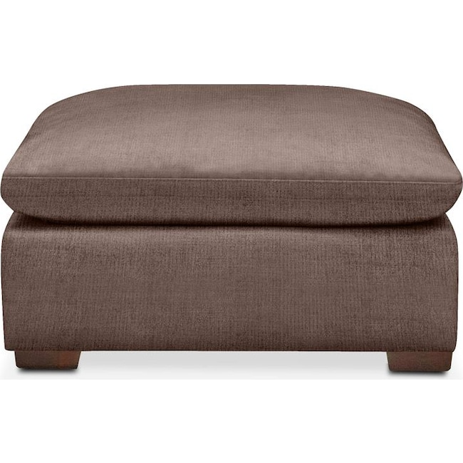 Living Room Furniture - Plush Ottoman- in Oakley III Java