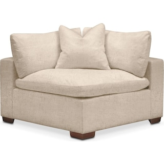 Plush Corner Chair- in Dudley Buff