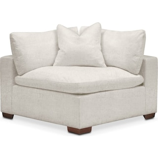 Plush Corner Chair- in Anders Ivory