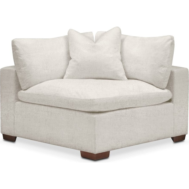 Living Room Furniture - Plush Corner Chair- in Anders Ivory