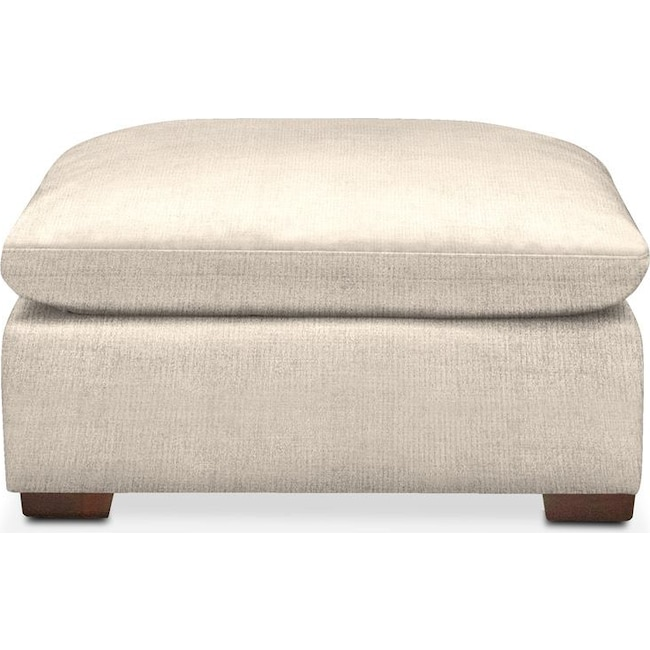 Living Room Furniture - Plush Ottoman- in Curious Pearl