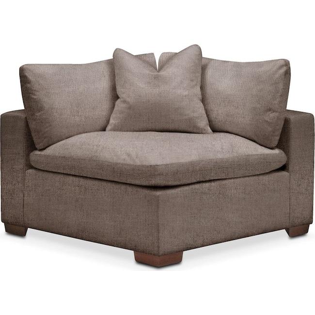 Living Room Furniture - Plush Corner Chair- in Hugo Mocha