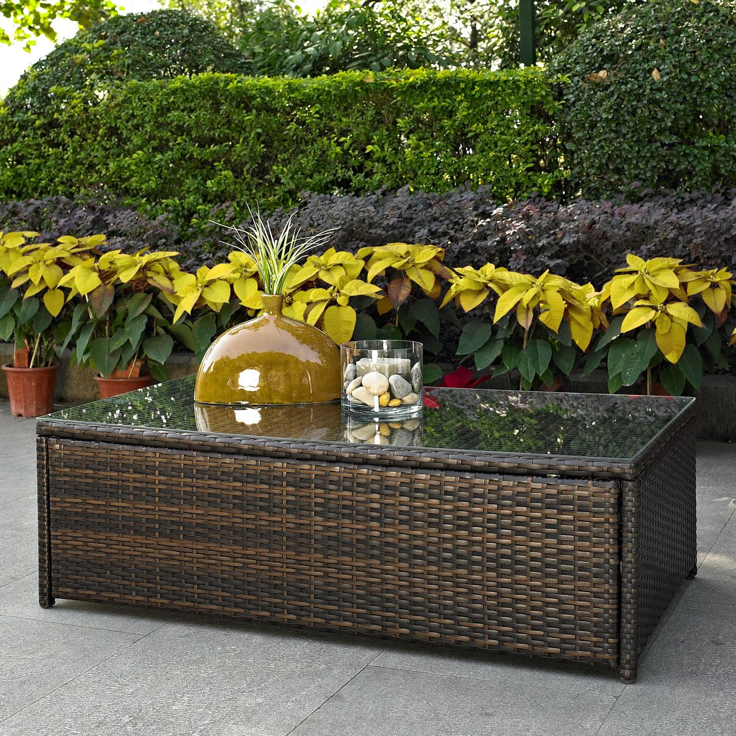 Outdoor Furniture - Aldo Outdoor Coffee Table - Brown