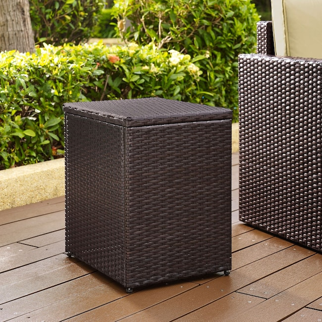 Outdoor Furniture - Aldo Outdoor End Table - Brown