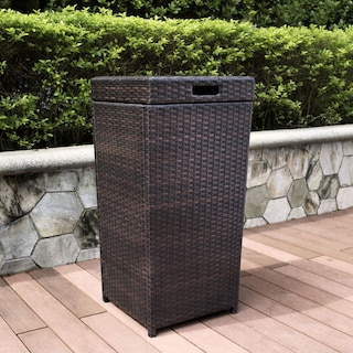 Aldo Outdoor Trash Bin - Brown