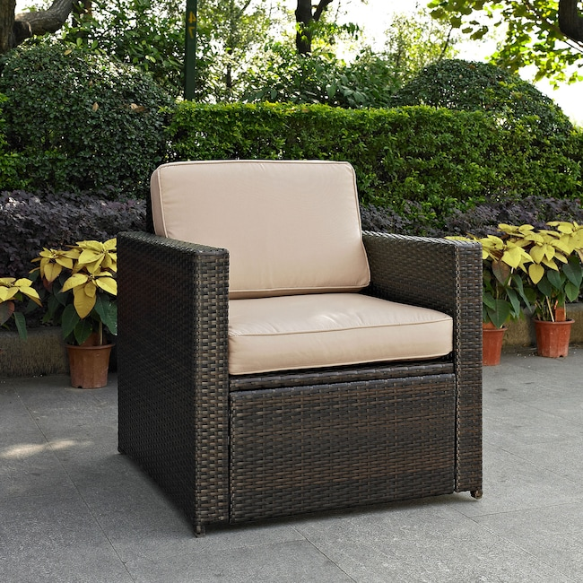 Outdoor Furniture - Aldo Outdoor Chair - Brown