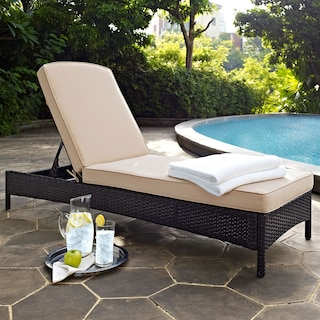 Aldo Outdoor Chaise - Brown
