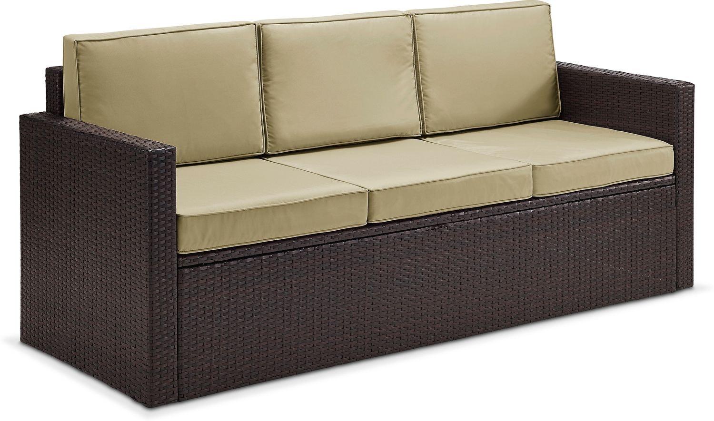 Aldo Outdoor Sofa Brown American Signature Furniture