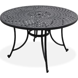 "Hana 46"" Outdoor Table - Black"