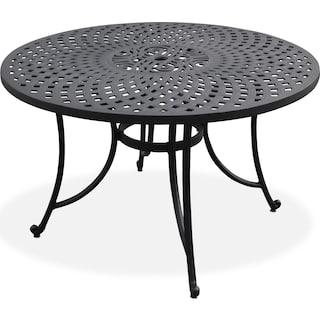 "Hana 46"" Outdoor Table - Black"