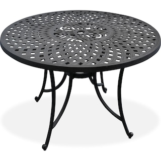"Hana 42"" Outdoor Table - Black"