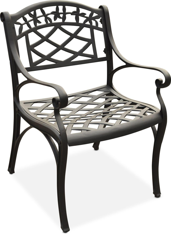 Outdoor Furniture - Hana Outdoor Arm Chair - Black