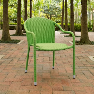 Aldo Set of 4 Stackable Outdoor Arm Chairs - Green