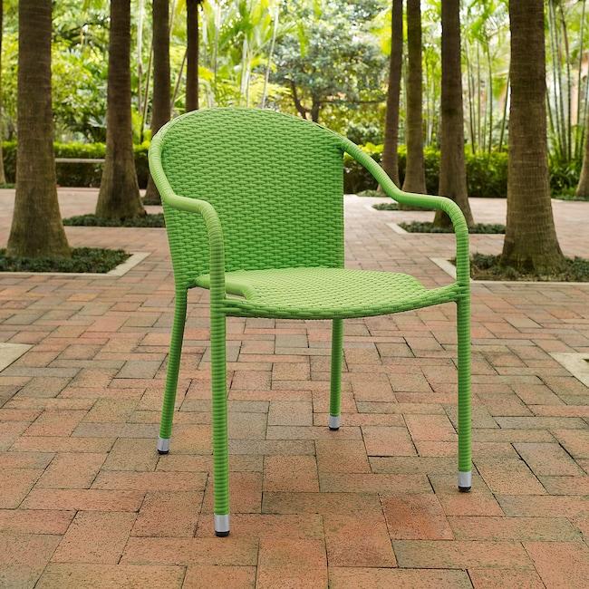 Outdoor Furniture - Aldo Set of 4 Stackable Outdoor Arm Chairs