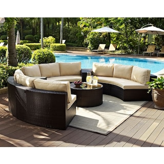 The Biltmore Outdoor Living Room Collection - Brown