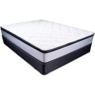 Oasis Plush Queen Mattress and Foundation Set