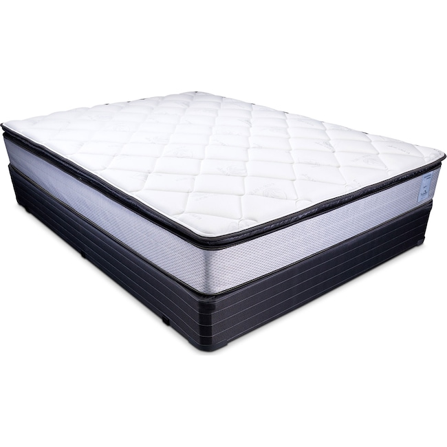 Mattresses and Bedding - Oasis Plush Twin Mattress and Foundation Set