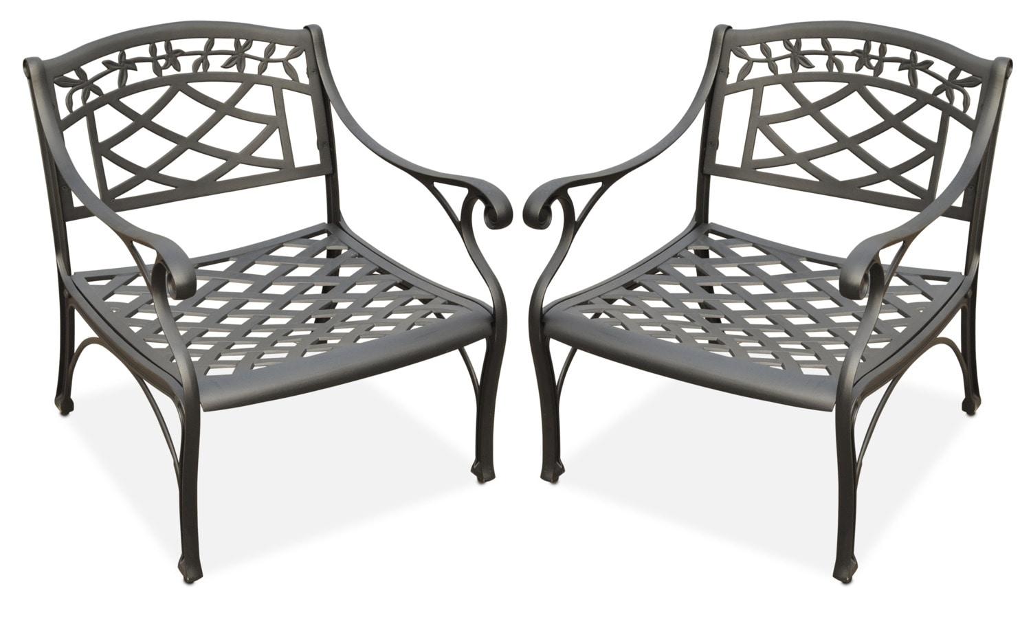 Hana Set Of 2 Outdoor Chairs   Black