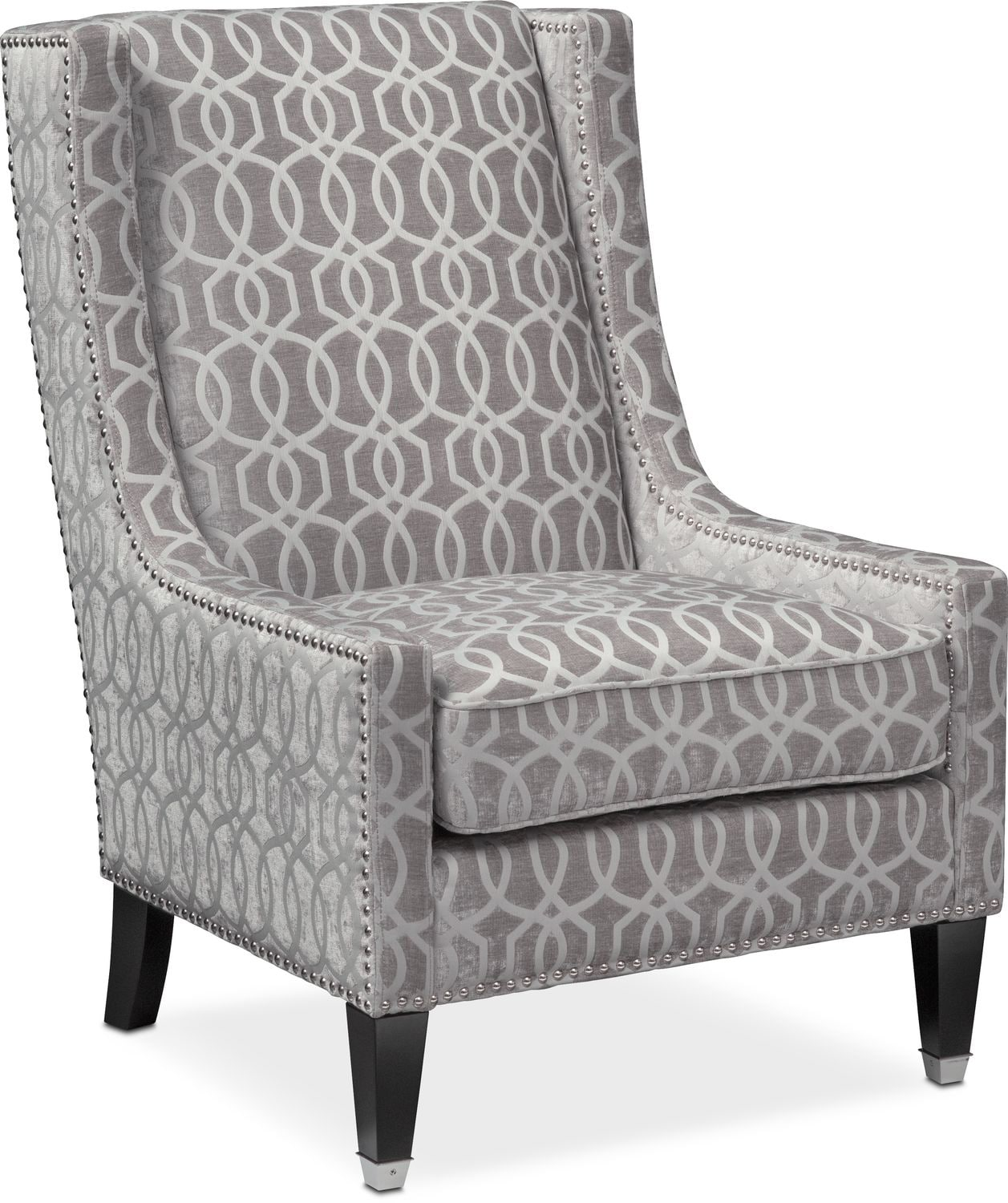 Venn Accent Chair Gray American Signature Furniture