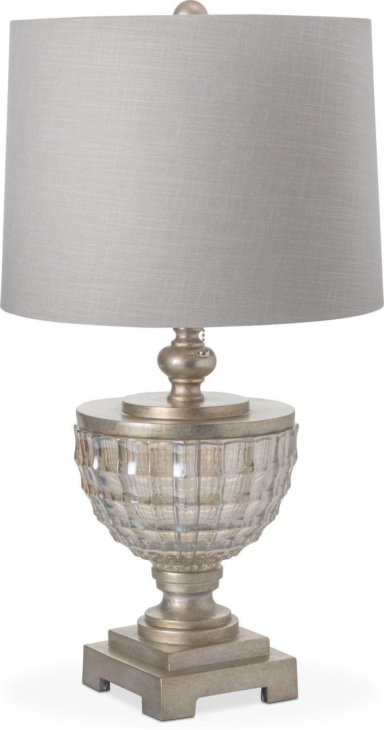 Home Accessories - Silver Leaf Glass Table Lamp