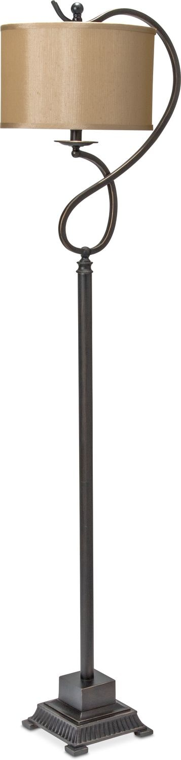 Home Accessories - Curved Bronze Floor Lamp