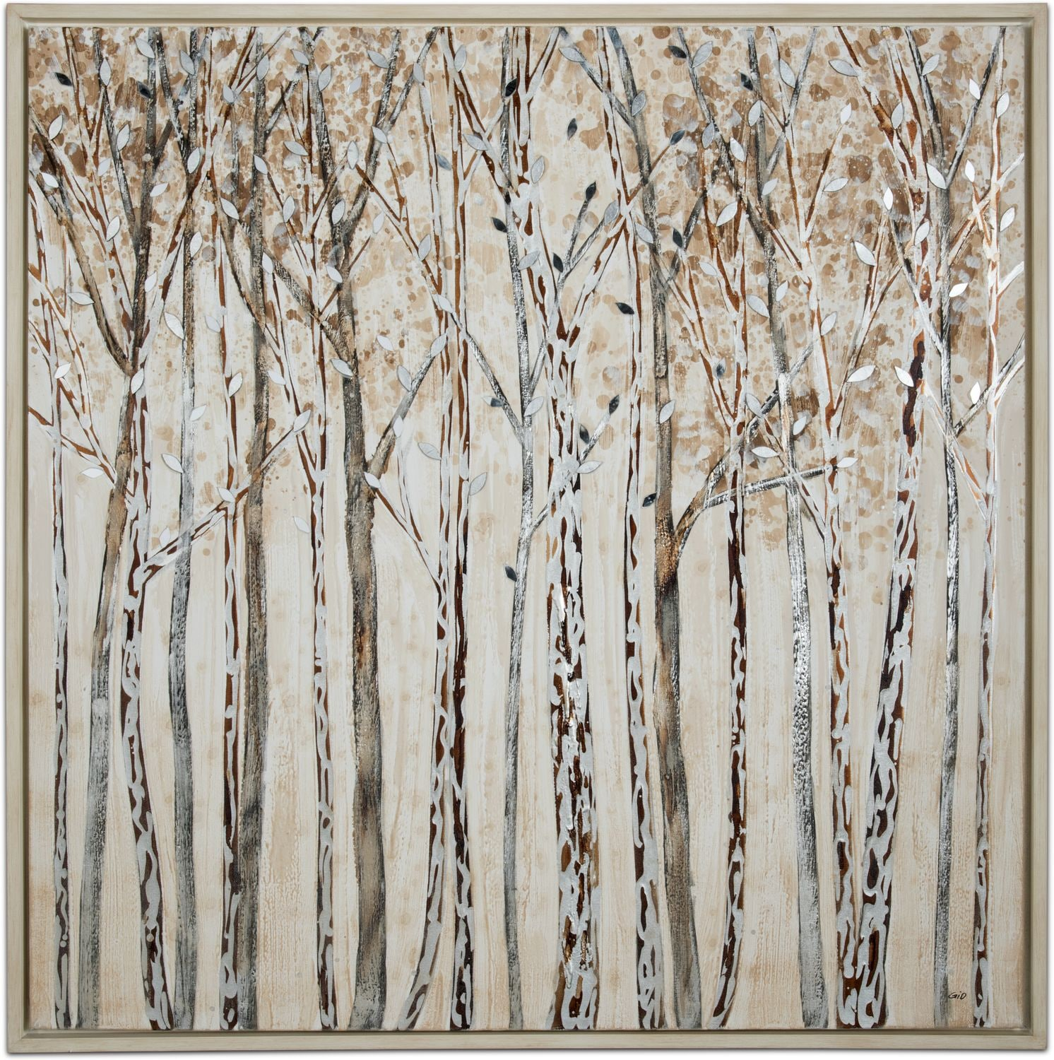Home Accessories - Winter Walk Framed Painting