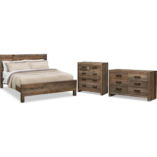 Rancho 5-Piece Queen Bedroom Set - Pine