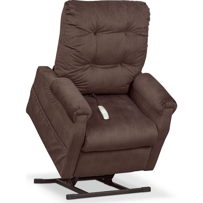 Living Room Furniture - Brody Power Lift Recliner - Chocolate