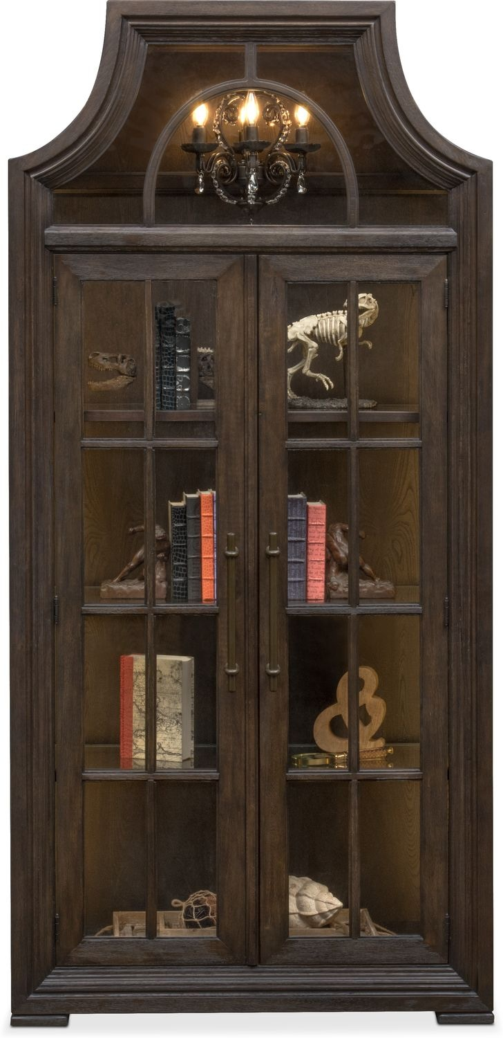 Lancaster Display Cabinet With Hutch Truffle American Signature Furniture