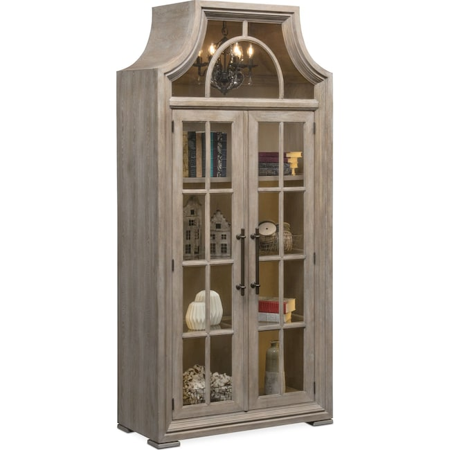 Lancaster Display Cabinet With Hutch Parchment