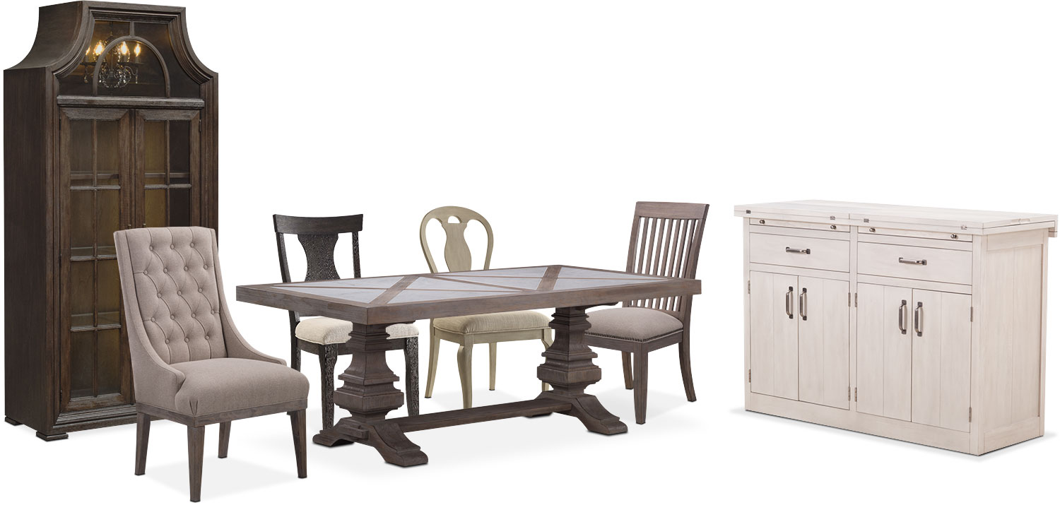The Lancaster Urn Dining Collection American Signature Furniture