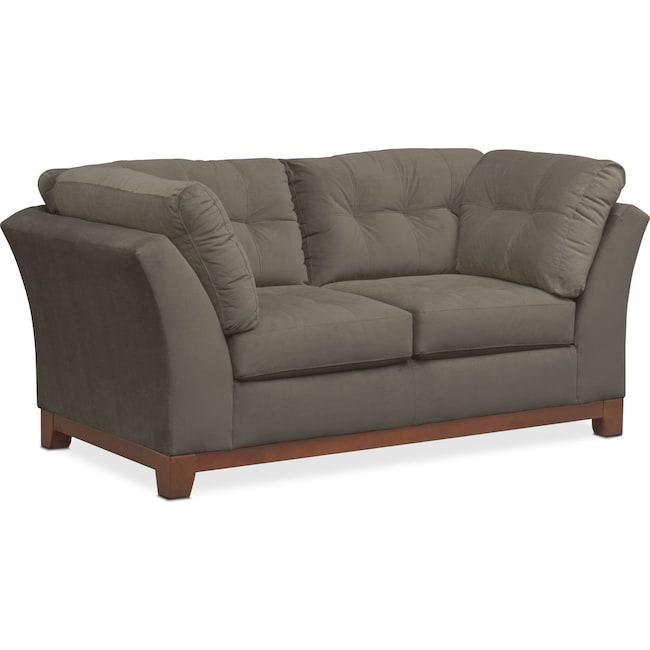 Living Room Furniture - Sebring Loveseat - Gray