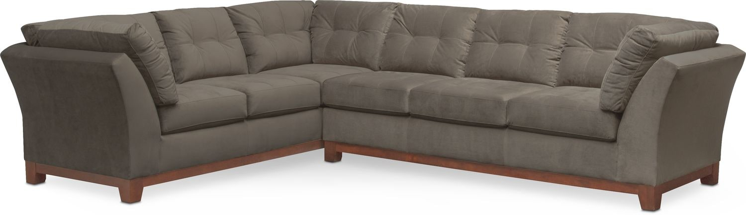 Living Room Furniture - Sebring 2-Piece Sectional with Right-Facing Sofa - Gray  sc 1 st  American Signature Furniture : american signature sectional - Sectionals, Sofas & Couches
