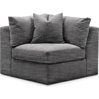 Collin Cumulus Corner Chair - Curious Charcoal