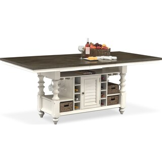 Charleston Counter-Height Dining Table - Gray and White