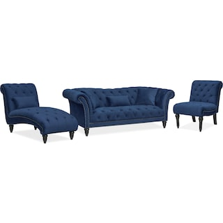 Marisol Sofa, Chaise and Chair Set