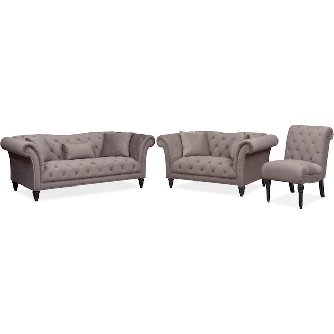 Living Room Furniture - Marisol Sofa, Loveseat and Chair Set