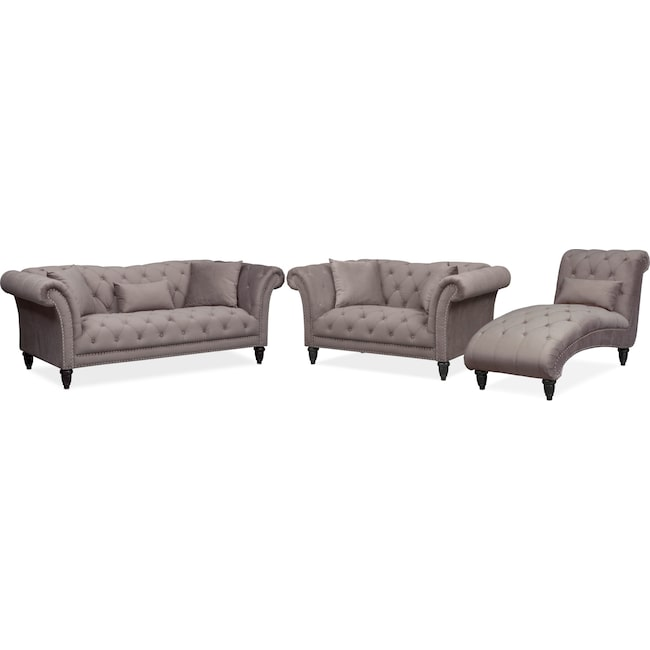 Marisol Sofa Loveseat And Chaise Set