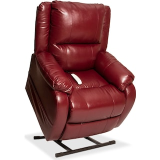 Dudley Power Lift Recliner - Burgundy