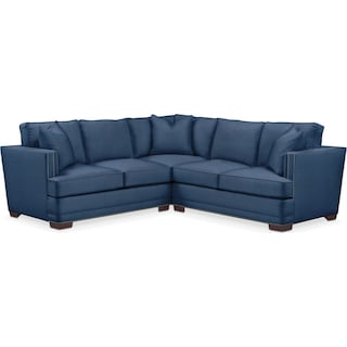 Arden 2 Pc. Sectional with Right Arm Facing Loveseat- Cumulus in Hugo Indigo