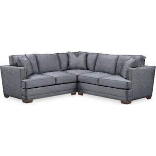 Arden 2 Pc. Sectional with Right Arm Facing Loveseat- Cumulus in Dudley Indigo
