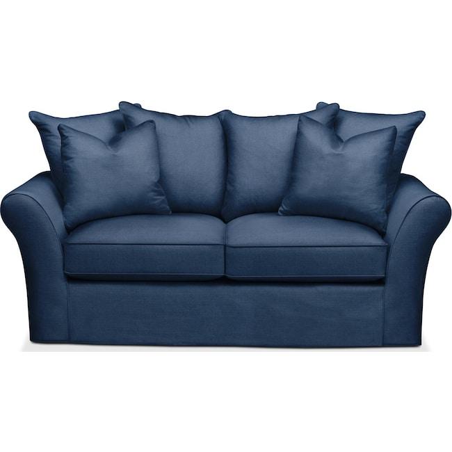 Living Room Furniture - Allson Apartment Sofa- Comfort in Hugo Indigo