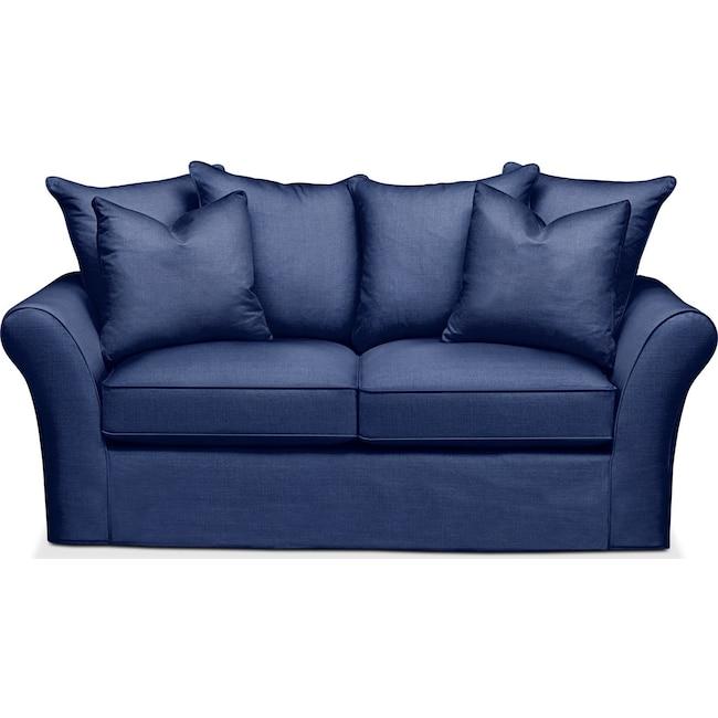 Living Room Furniture - Allson Apartment Sofa- Comfort in Abington TW Indigo
