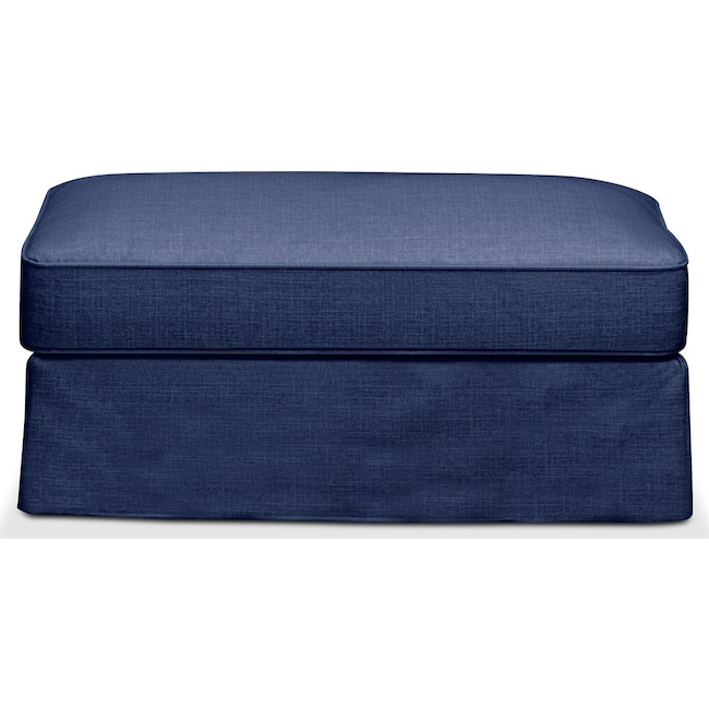 Living Room Furniture - Allison Ottoman- Comfort in Abington TW Indigo