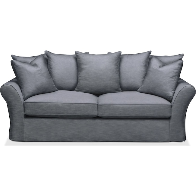 Living Room Furniture - Allison Sofa- Cumulus in Dudley Indigo