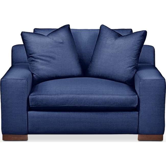 Living Room Furniture - Ethan Chair and a Half- Cumulus in Abington TW Indigo